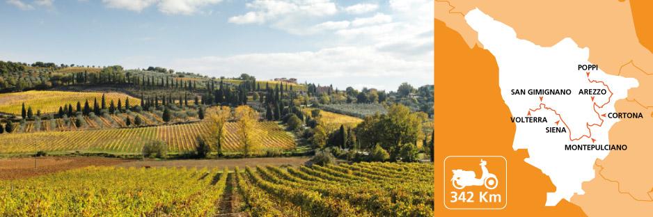 Itinerary discovering Tuscany