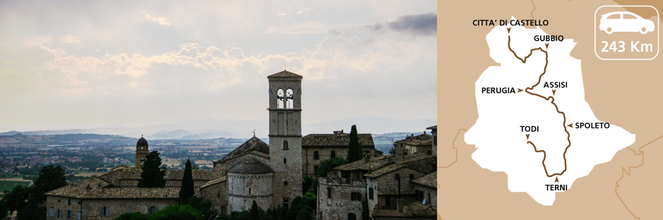 Itinerary discovering Umbria