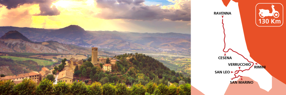 Itinerary discovering Emilia Romagna