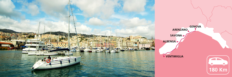 Itinerary discovering Liguria