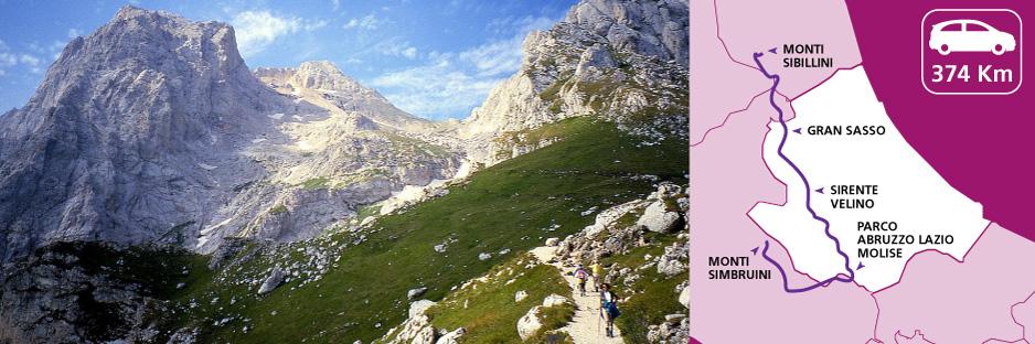 Itinerario dei Parchi in Abruzzo, Umbria, Lazio e Molise